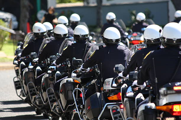 Police Officer Funeral stock photo