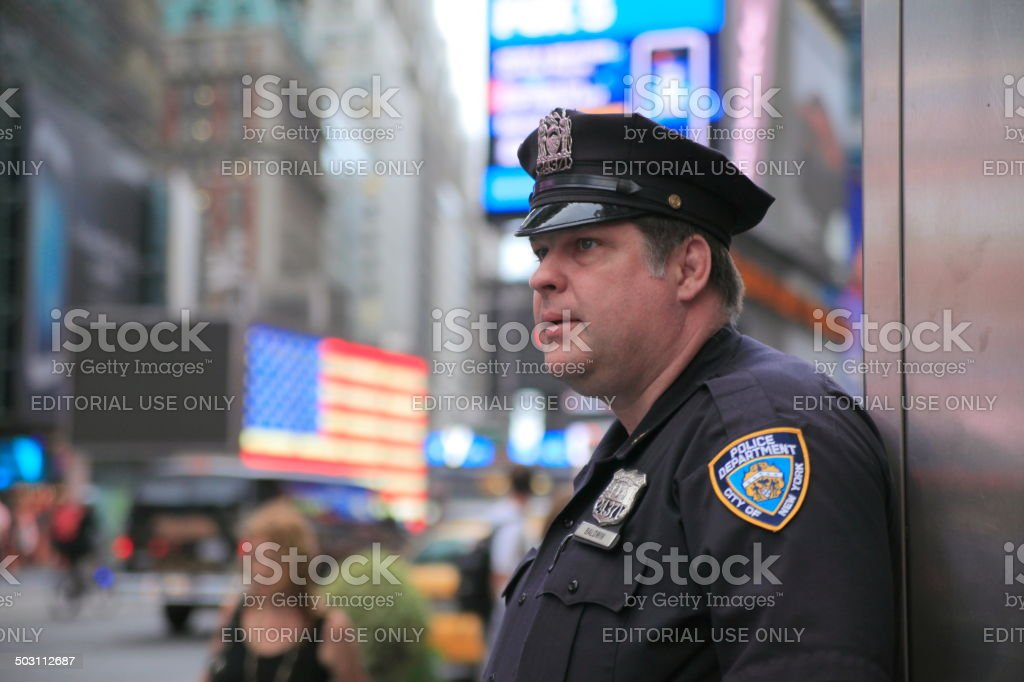 Police Officer in New York stock photo