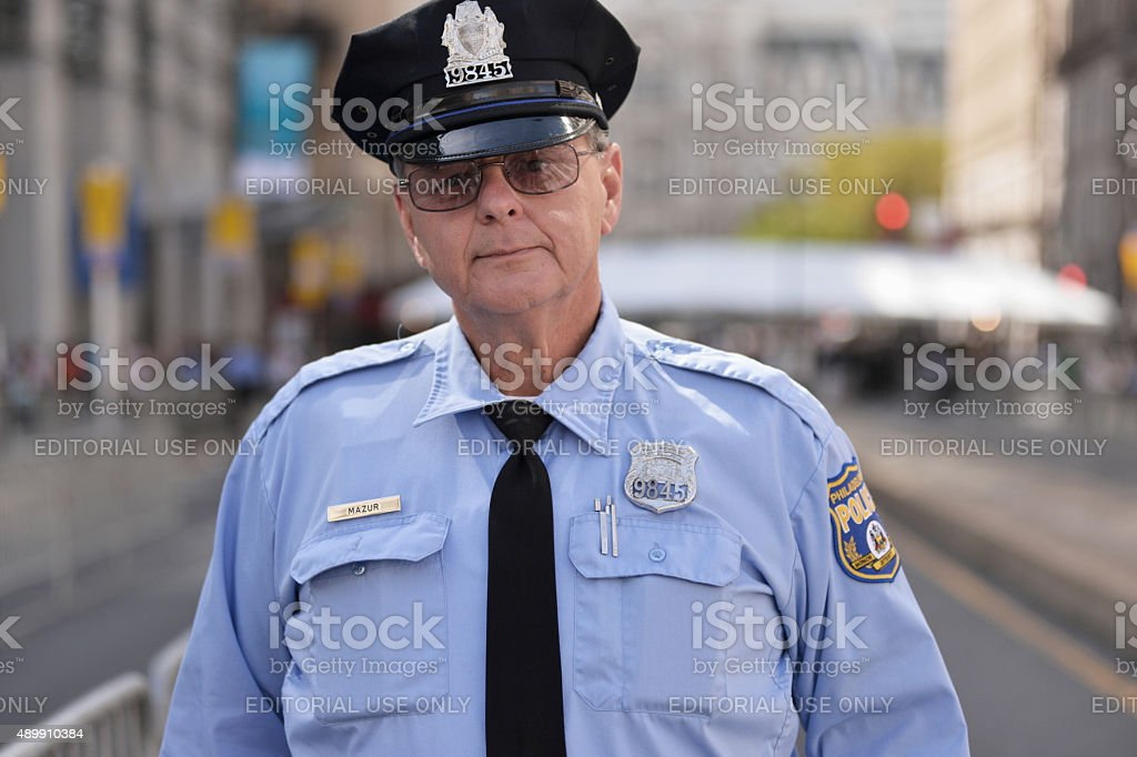 Police Officer of Philadelphia Police Department (PPD) stock photo