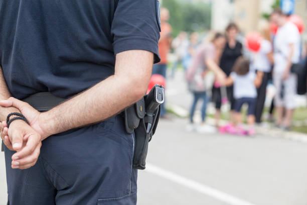 Polizist im Einsatz – Foto