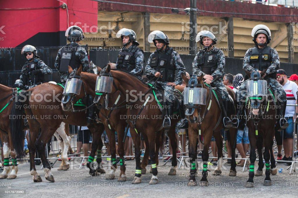 Police Officer on Horseback stock photo
