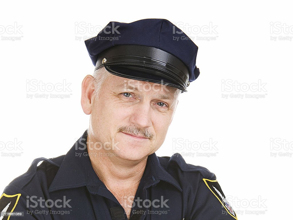 Police Officer Portrait stock photo