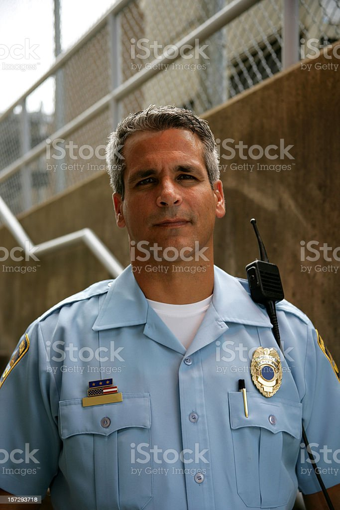 Police Officer Vertical royalty-free stock photo