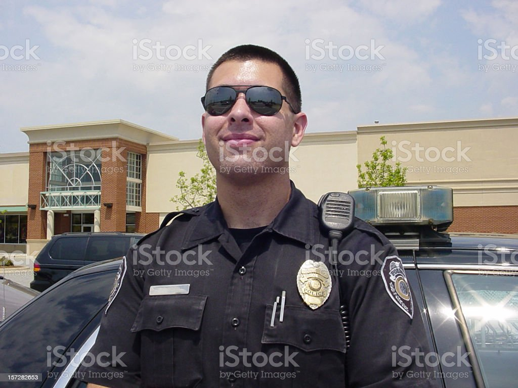 Police Officer with Sunglasses royalty-free stock photo