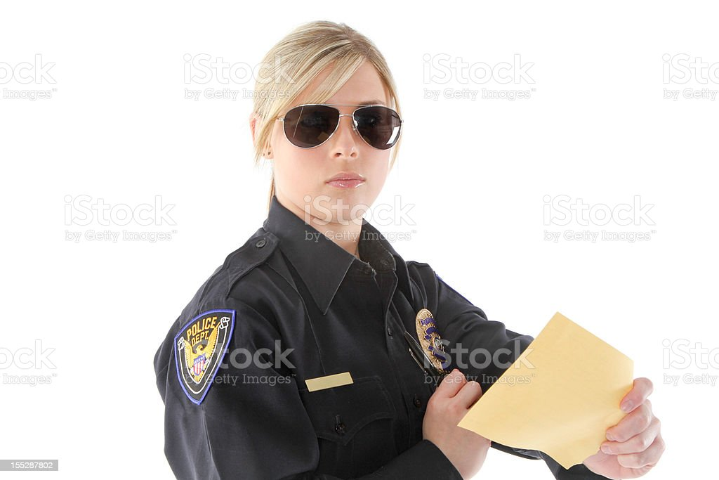 Police officer working stock photo