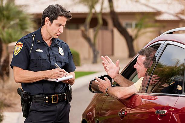 Polizist Schreiben Ticket – Foto