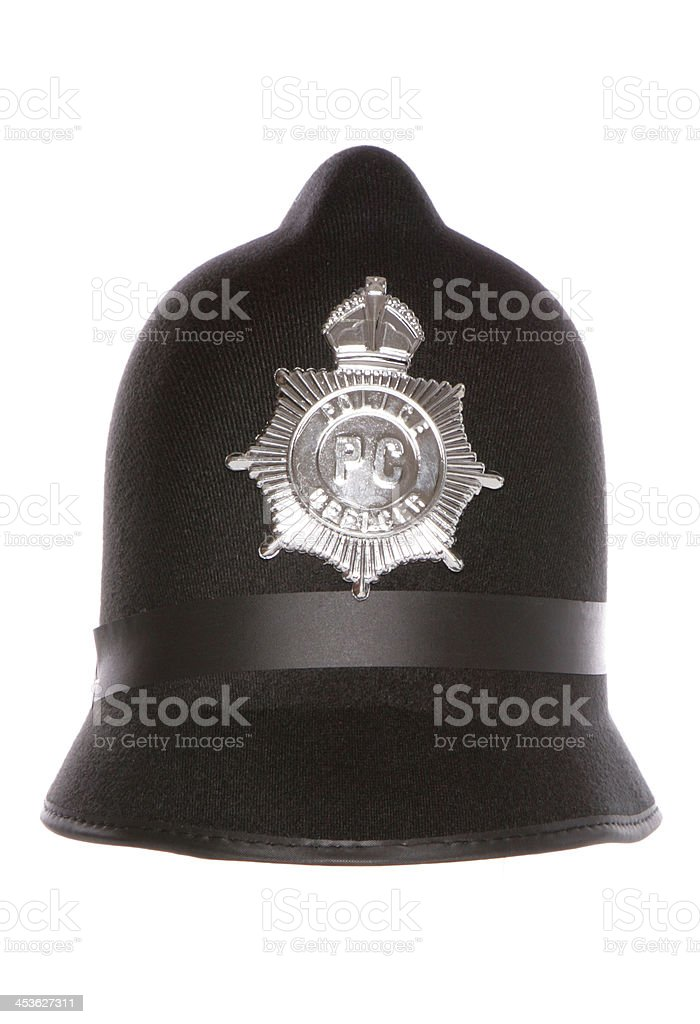 police officers fancy dress hat stock photo
