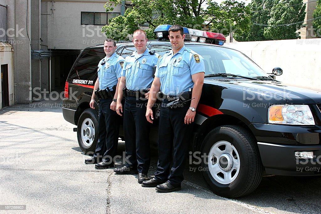 Polizisten Ganzkörper Lächeln – Foto