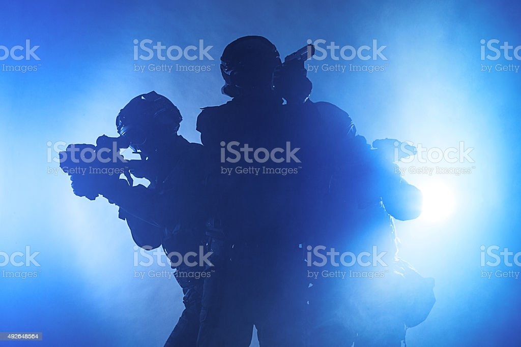Police officers SWAT stock photo