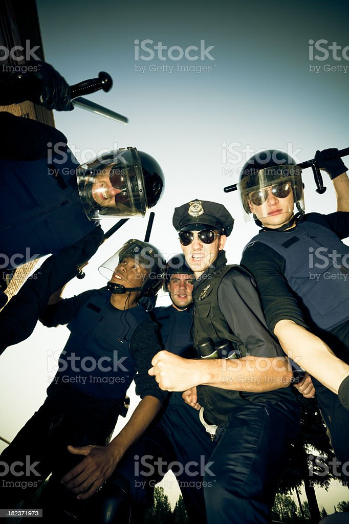 Police Operation royalty-free stock photo