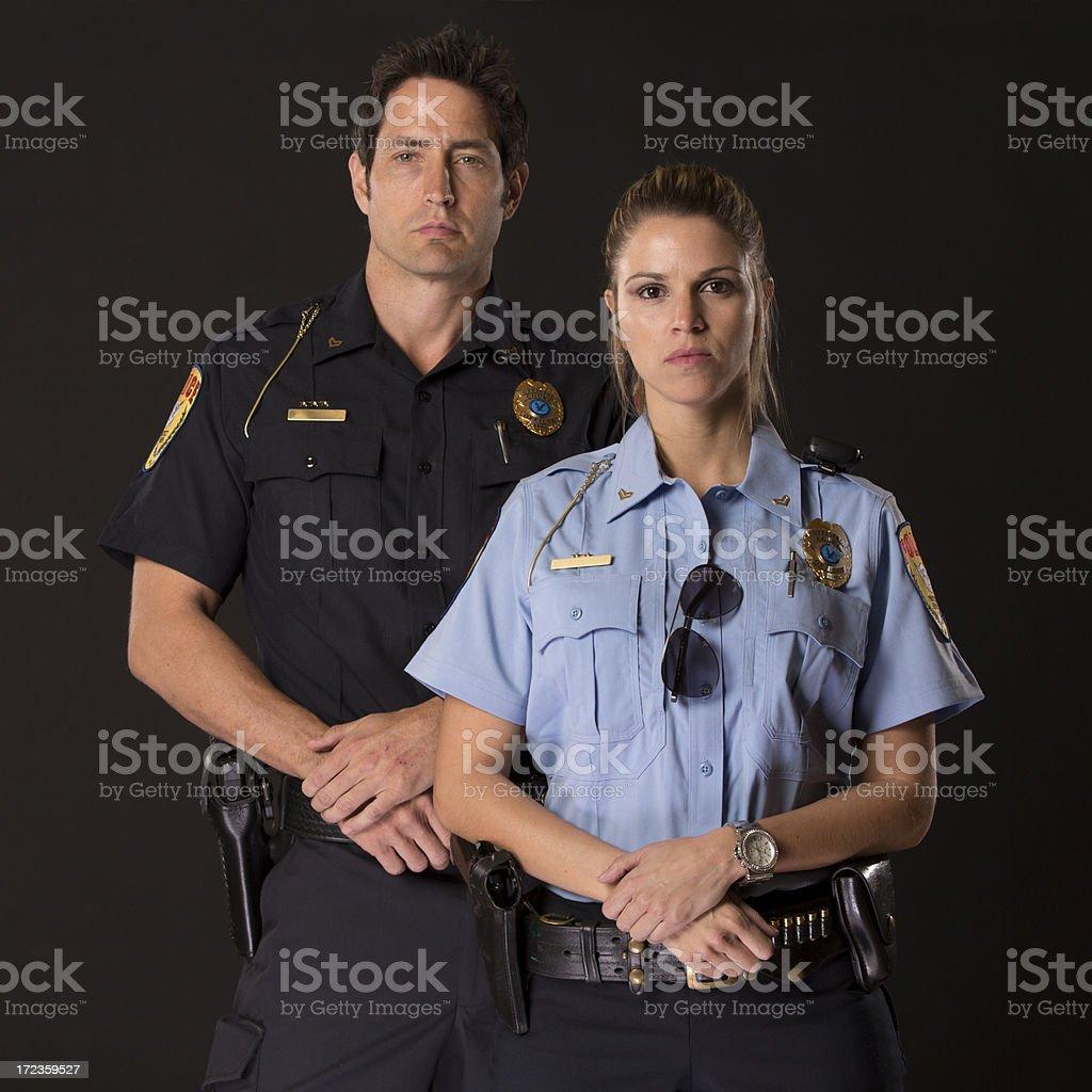Agentes de policía foto de stock libre de derechos