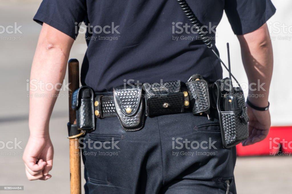 Police patrolling stock photo