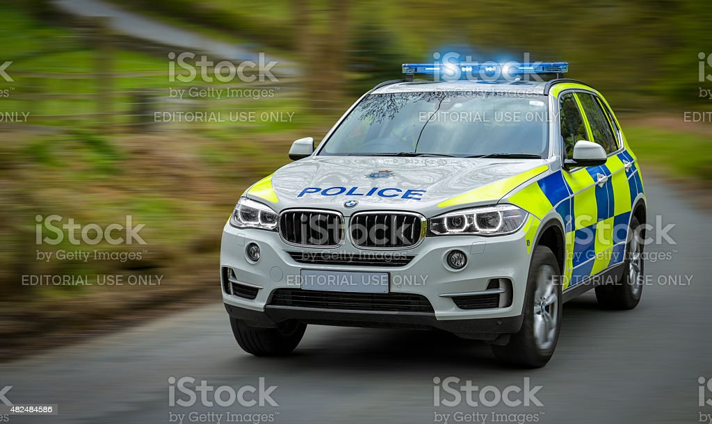 Police persuit stock photo