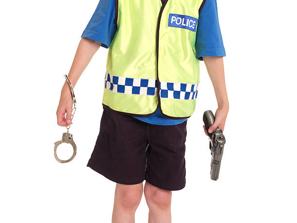 police - boy handcuffs stock pictures, royalty-free photos & images