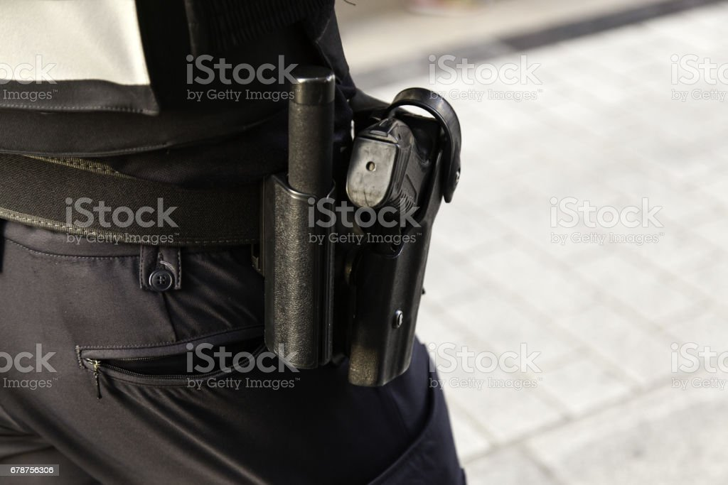Police Pistol stock photo