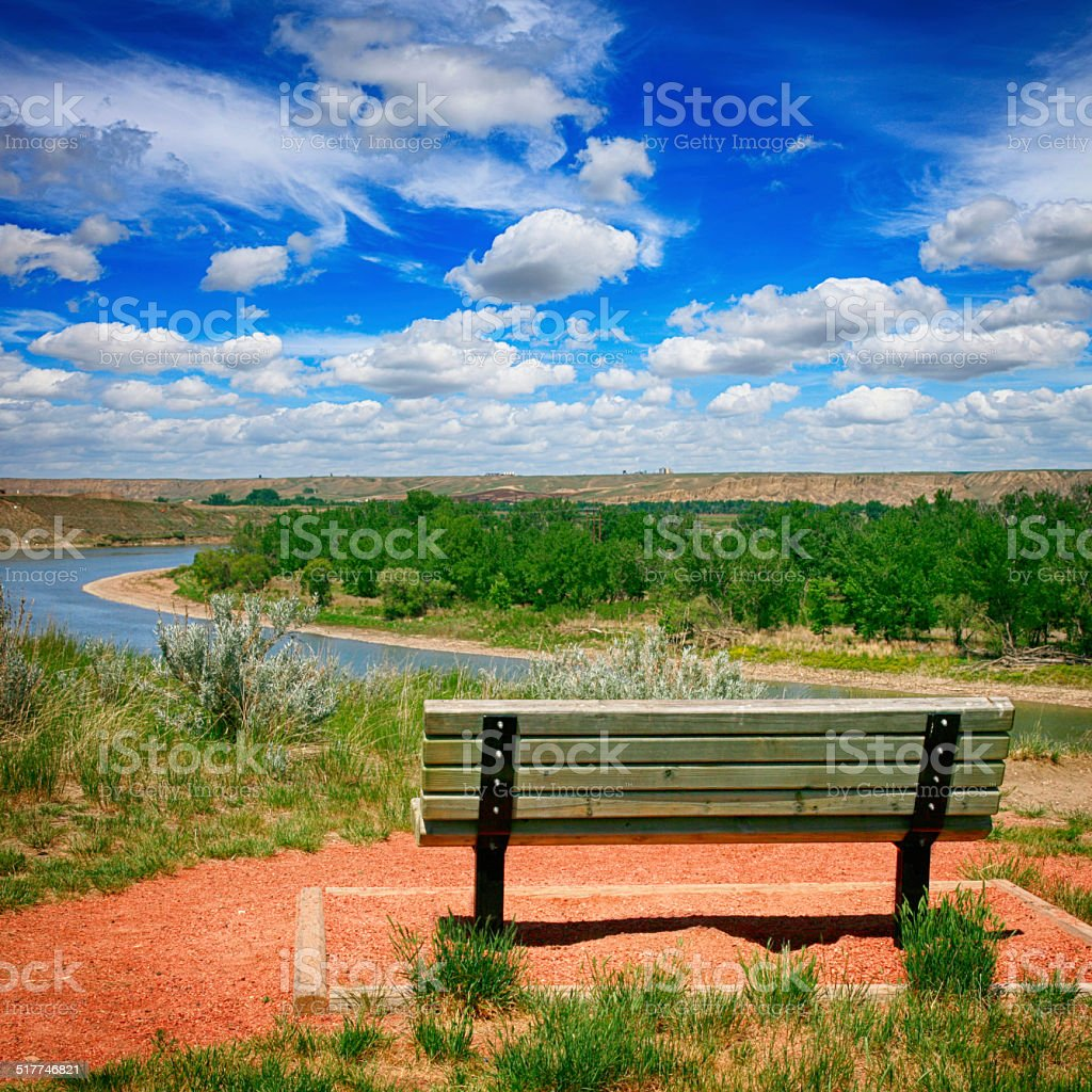 Police Point Park - Medicine Hat, Alberta, Canada stock photo