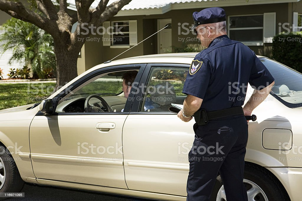 Police - Pulled Over stock photo