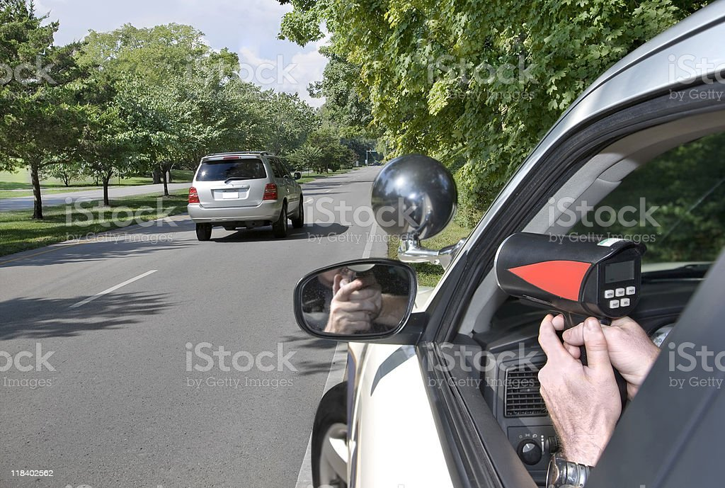 Police Radar royalty-free stock photo