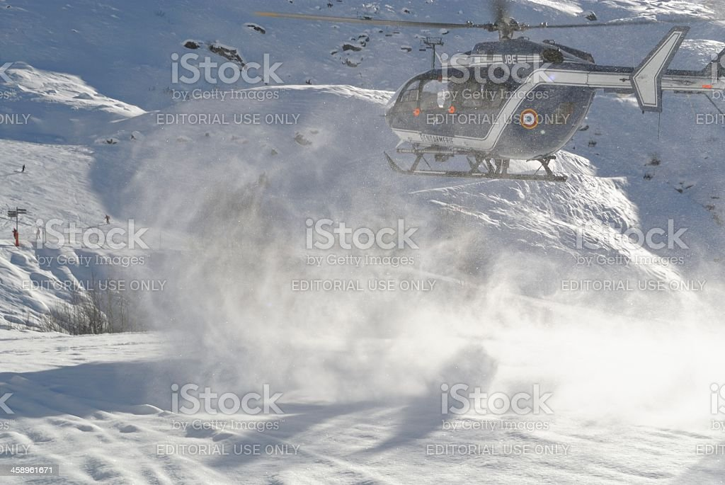 Police Rescue Helicopter royalty-free stock photo
