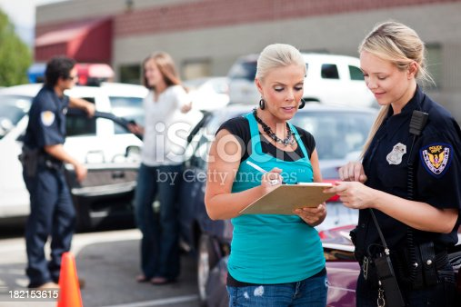 1047083324 istock photo Police Respond to Traffic Accident 182153615