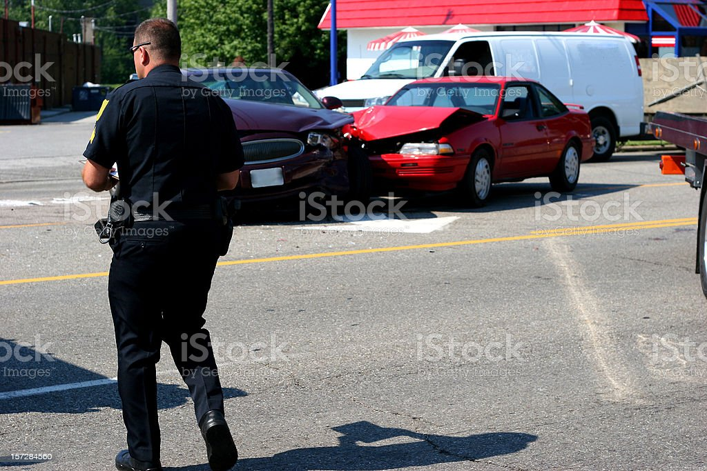 Police Responding to Accident 1 royalty-free stock photo