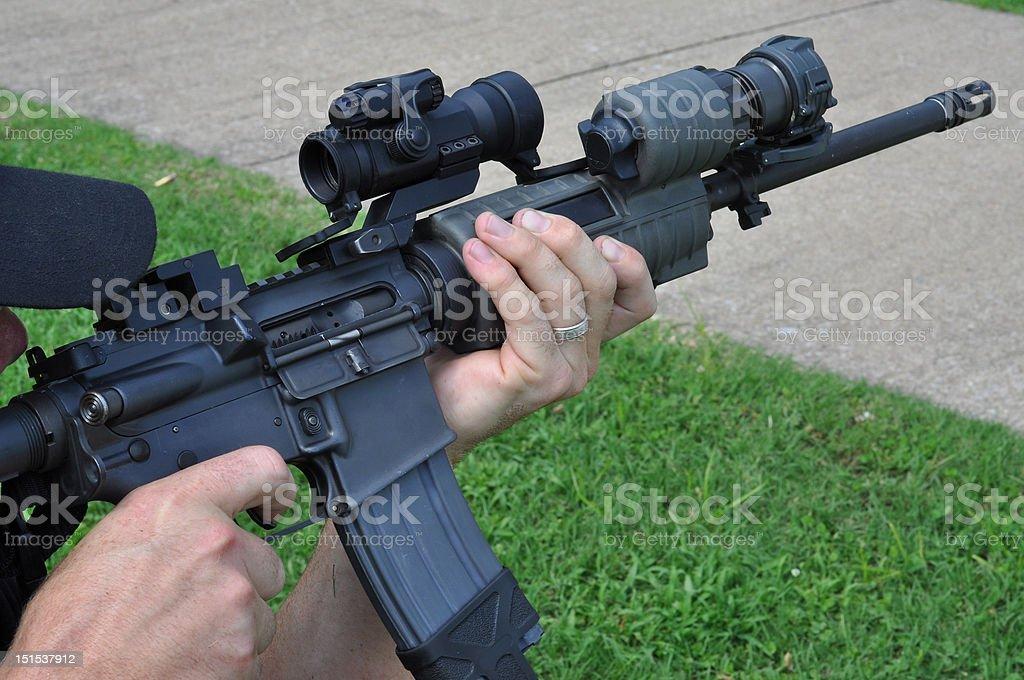 Police Rifle Training stock photo