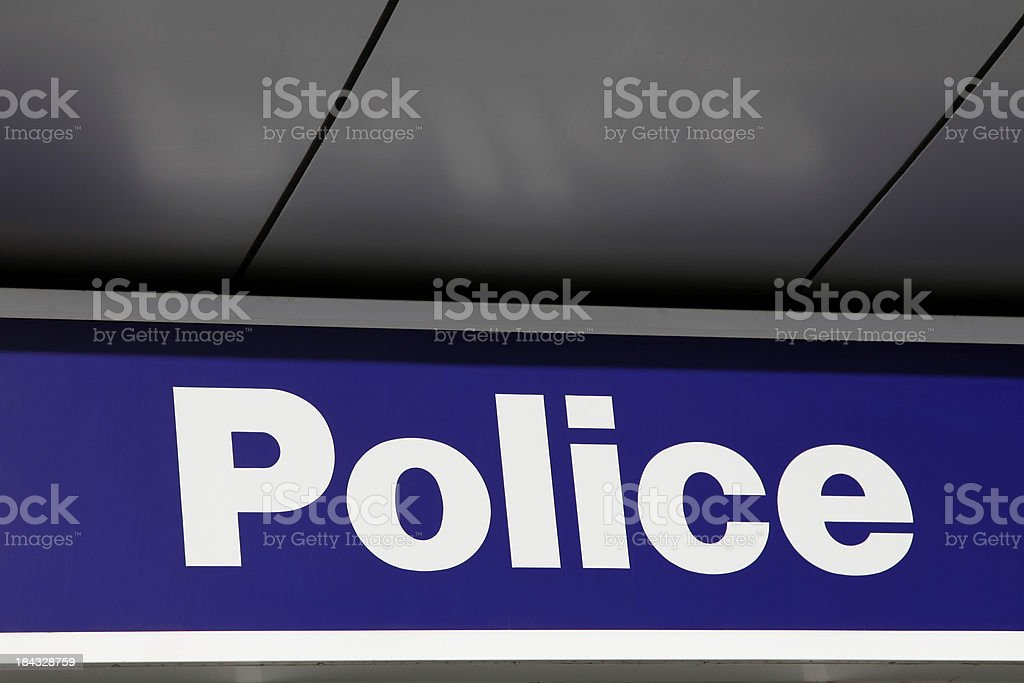 Police Sign royalty-free stock photo
