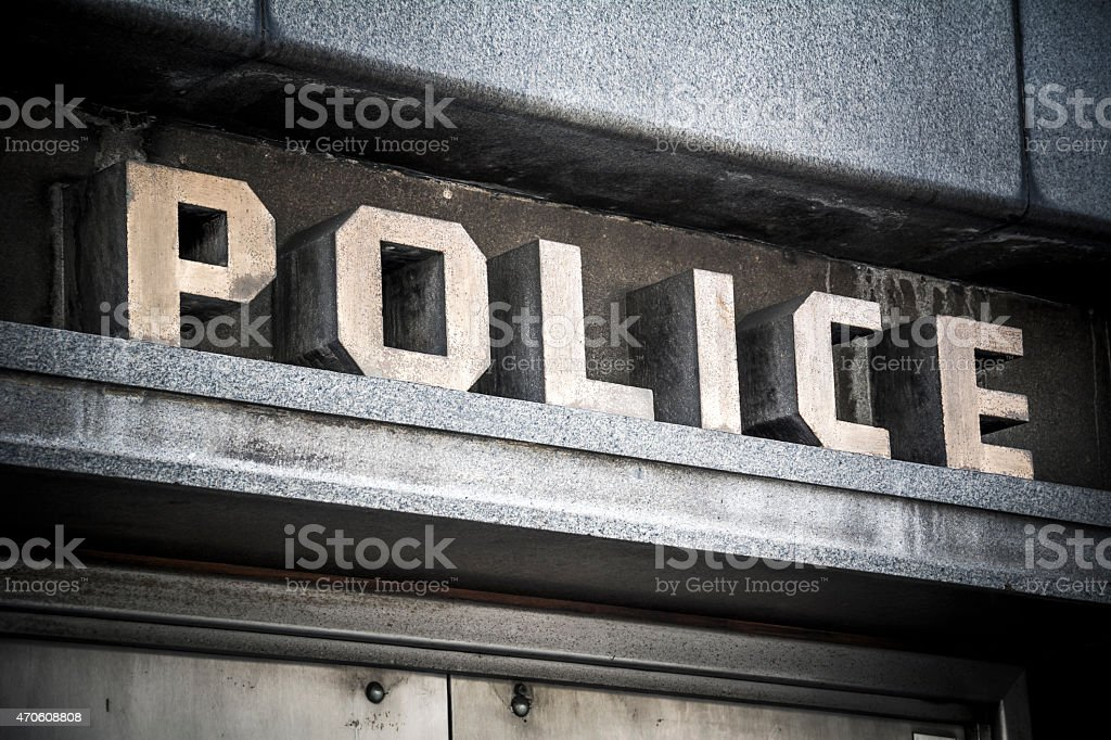 Police sign stock photo