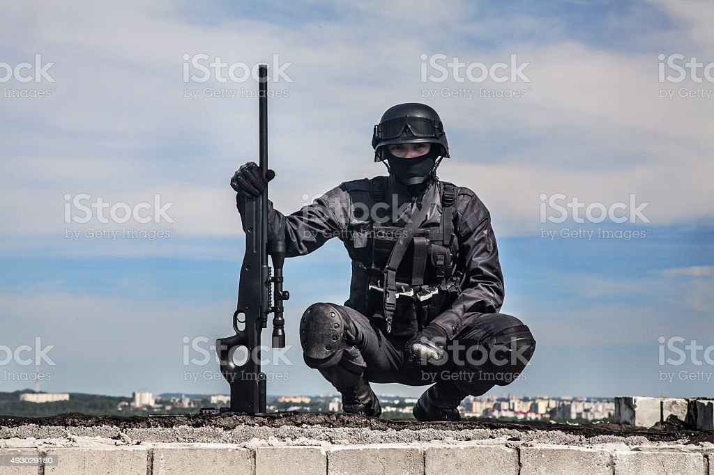 Swat Police Sniper Stock Photo More Pictures Of 2015 Istock