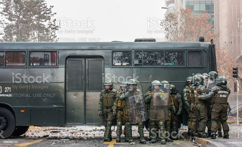 police stand guard royalty-free stock photo