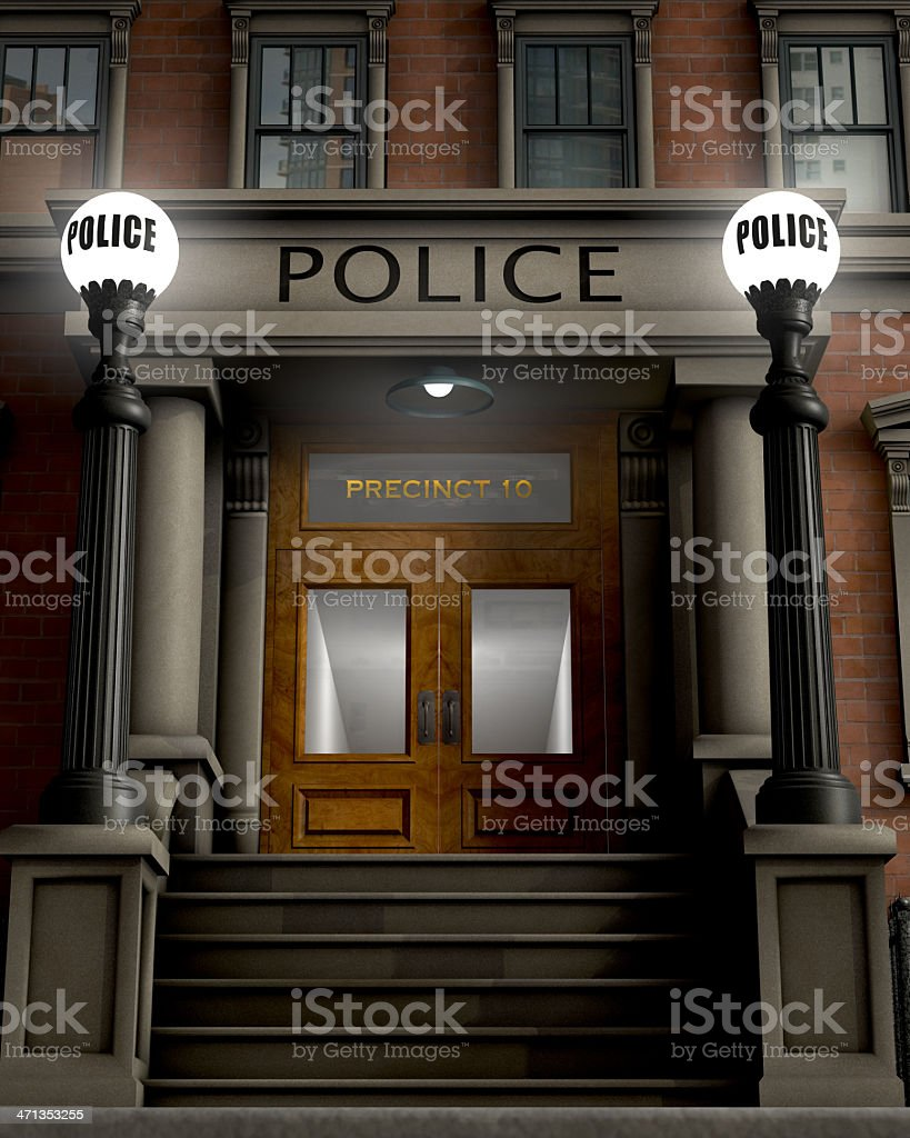 Police station building that says Precinct 10  stock photo