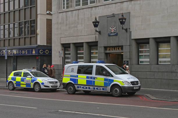 Police Station London stock photo