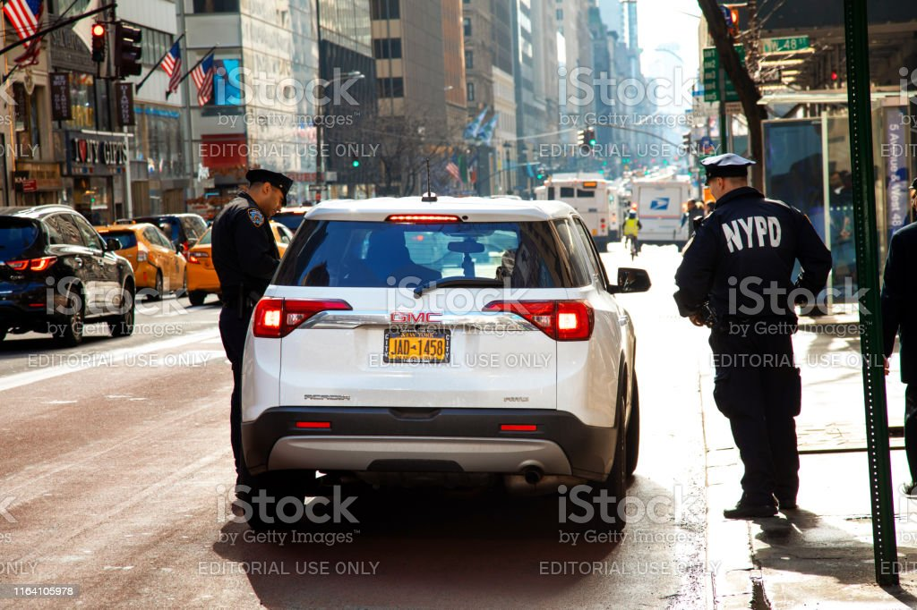 Police Stop Car - Royalty-free Arrest Stock Photo