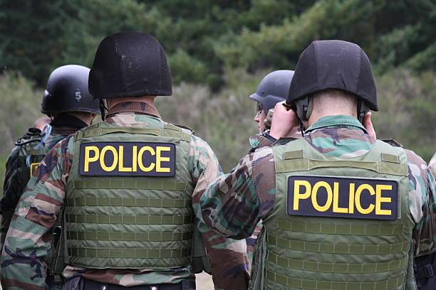 Police SWAT Team stock photo
