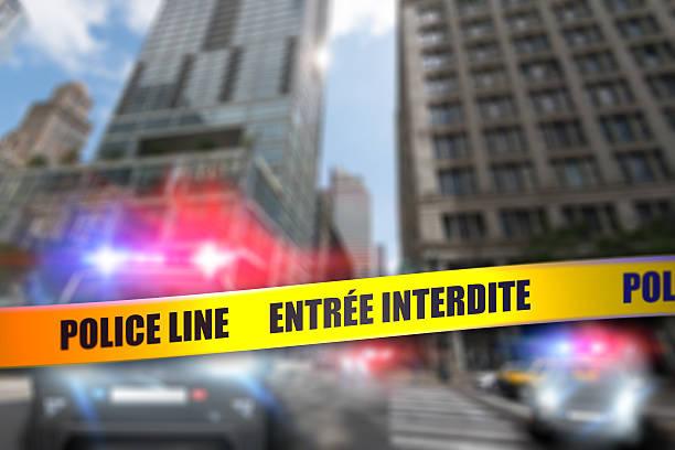 Police Tape - City Crime - France stock photo
