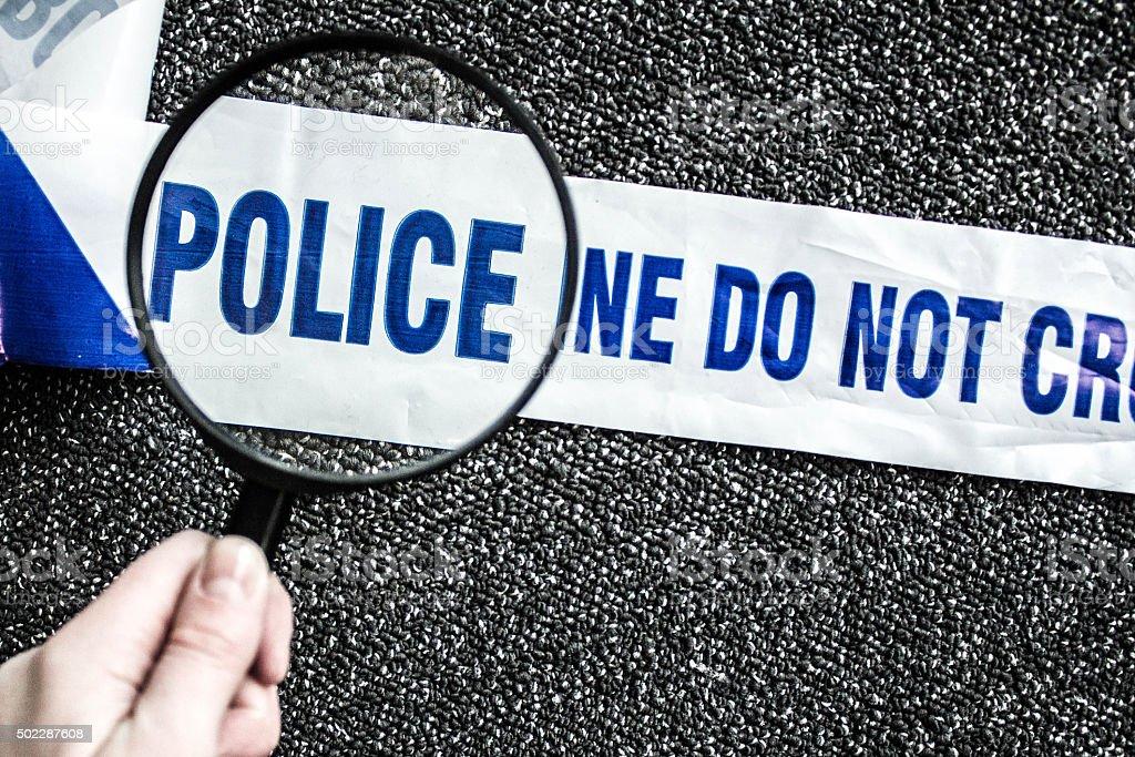 Police Tape Evidence stock photo
