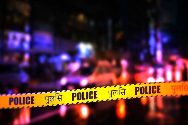 Police Tape - Hindi stock photo