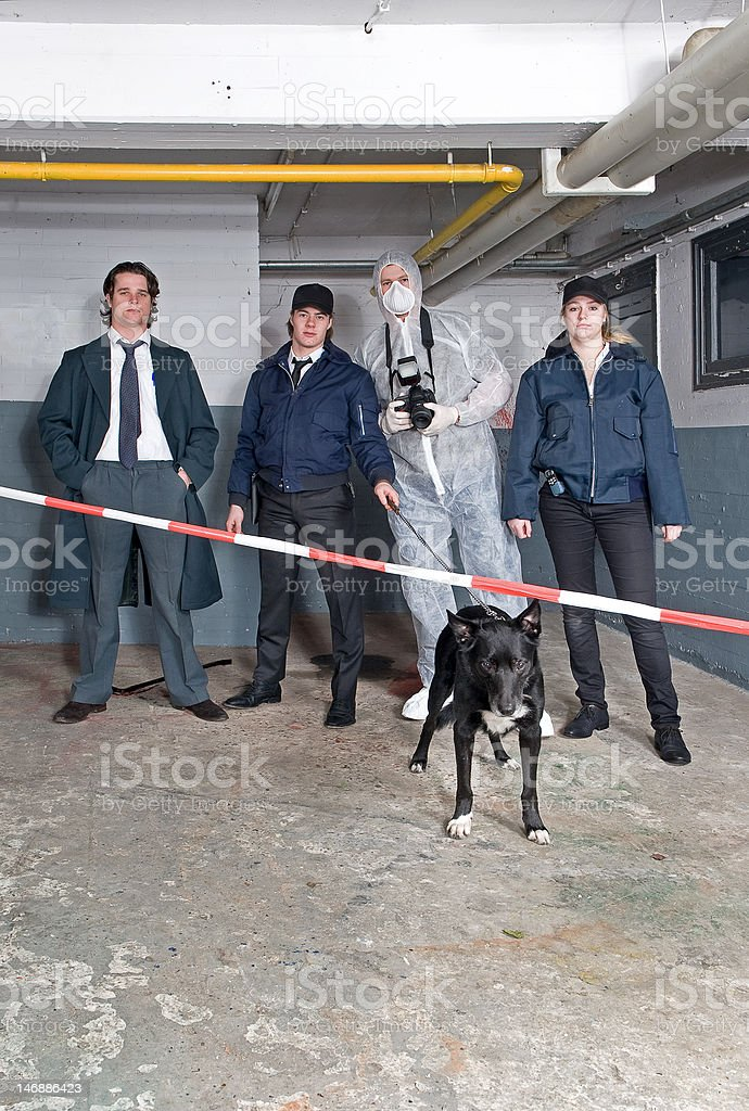 Police team royalty-free stock photo