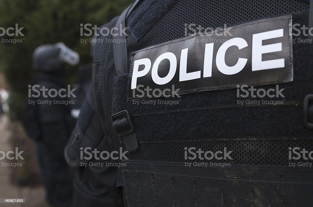 Police torso stock photo