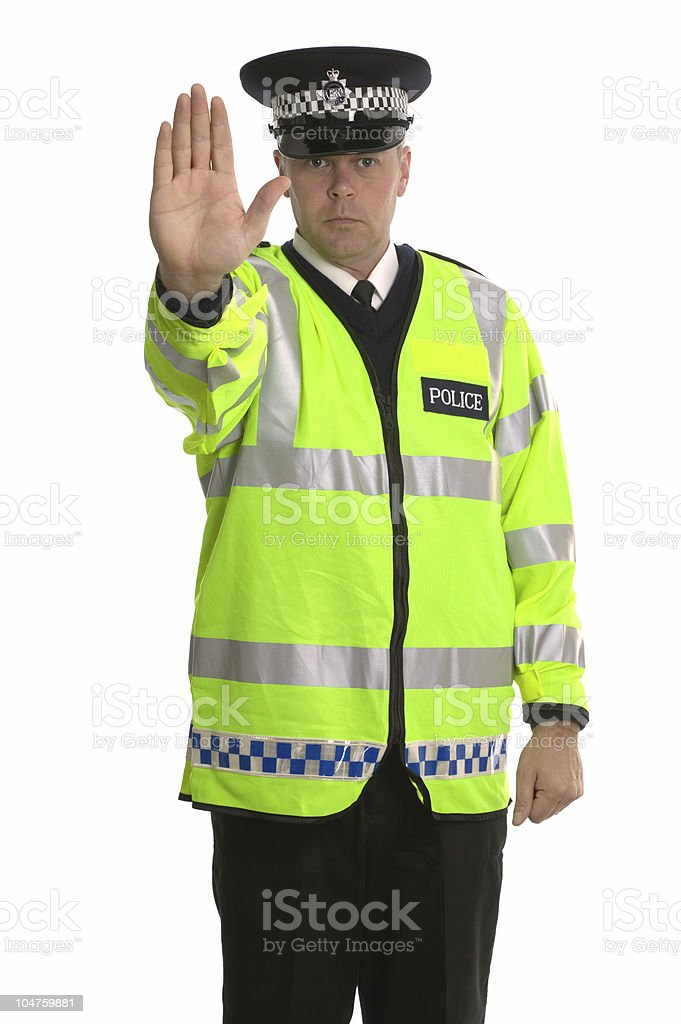 Police traffic stop stock photo