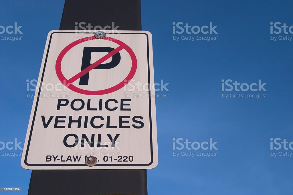 Police Vehicles Only royalty-free stock photo