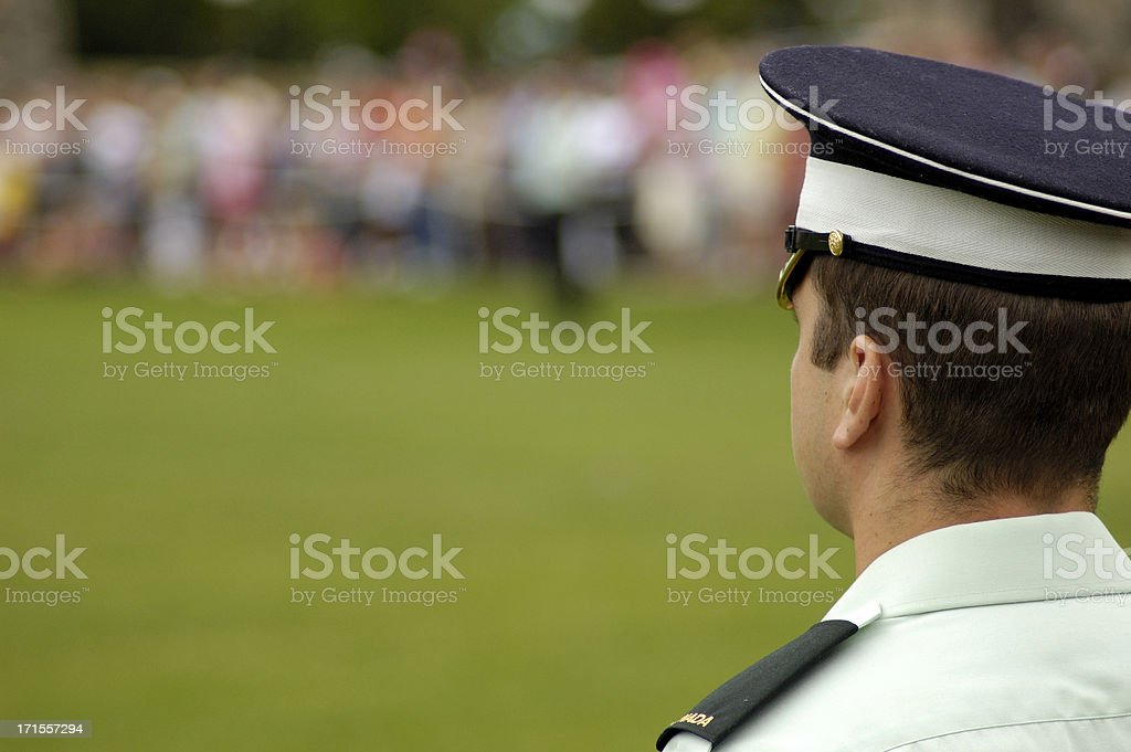 Police watching royalty-free stock photo