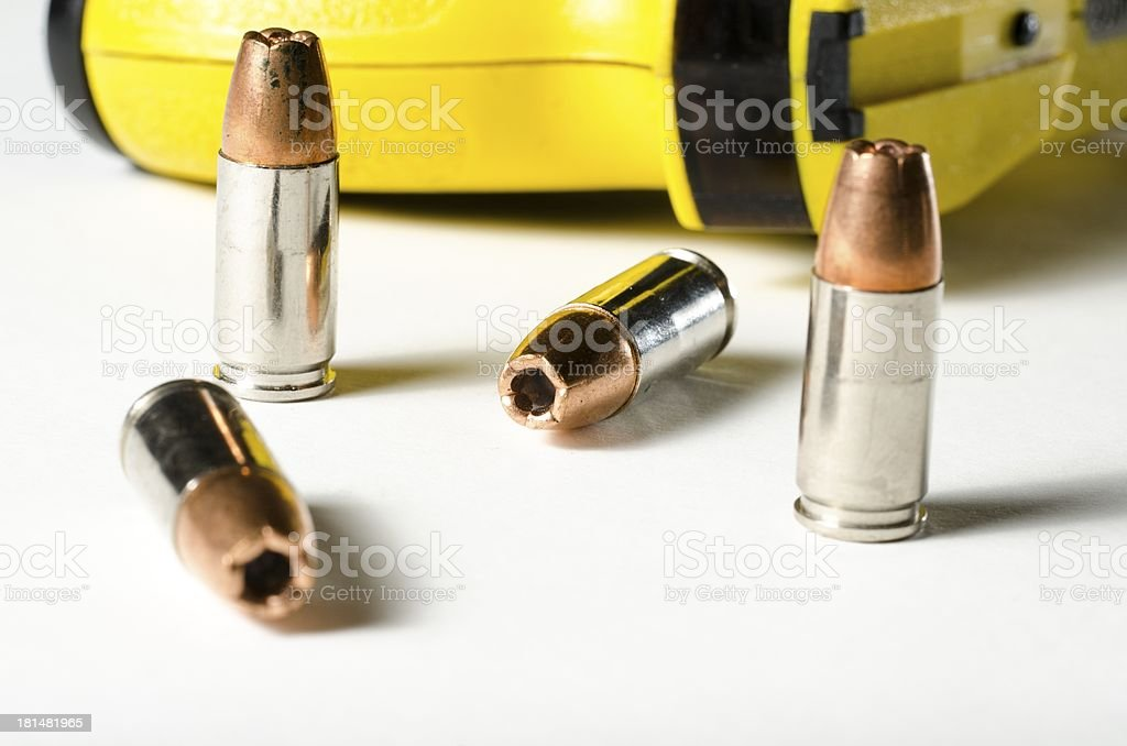 Police weapons stock photo