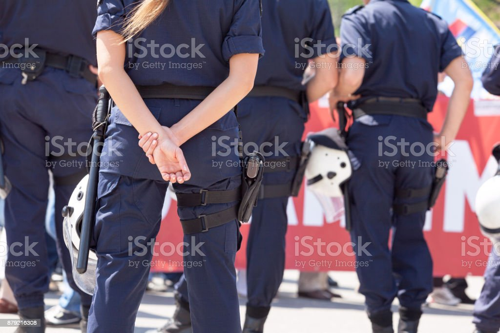 Police woman. Law enforcement. stock photo
