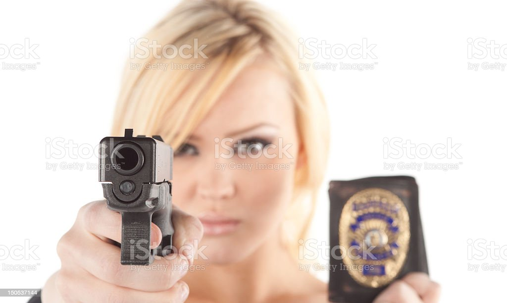 Police woman royalty-free stock photo