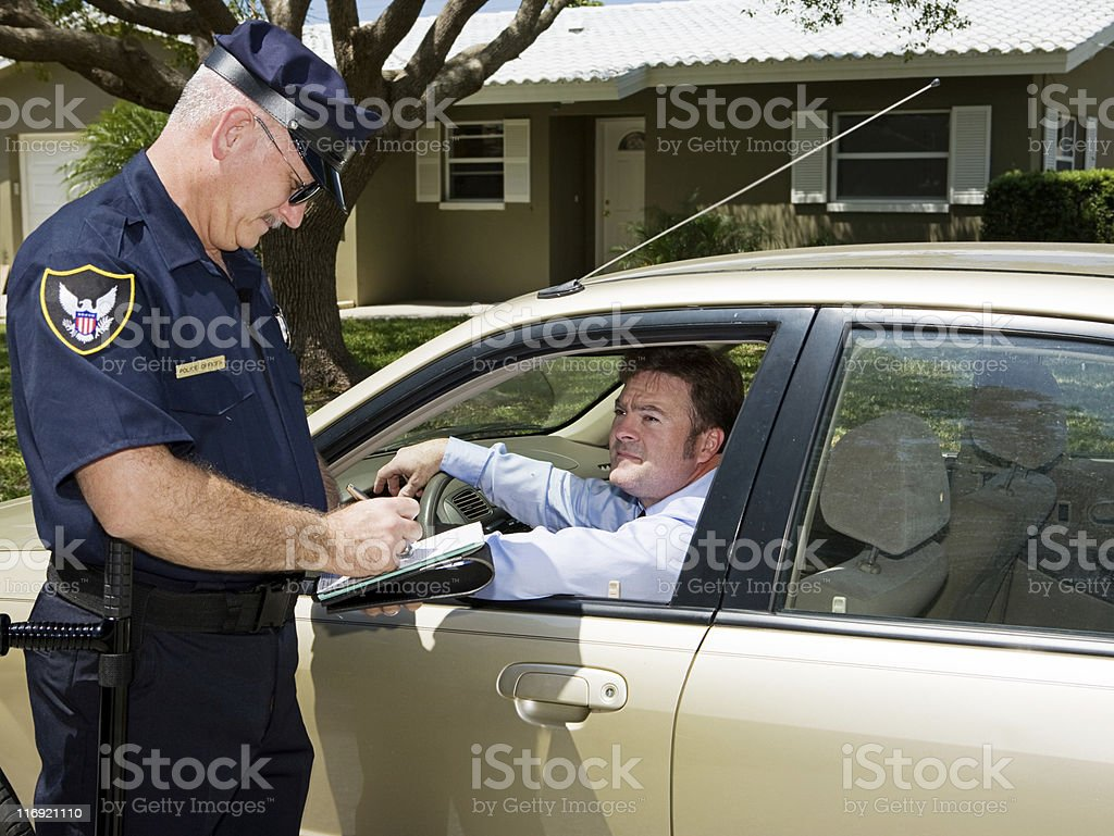 Police - Writing Ticket stock photo