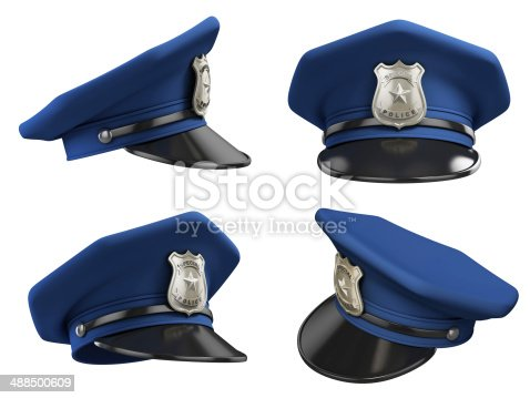 istock policeman hat from various angles 3d illustration 488500609