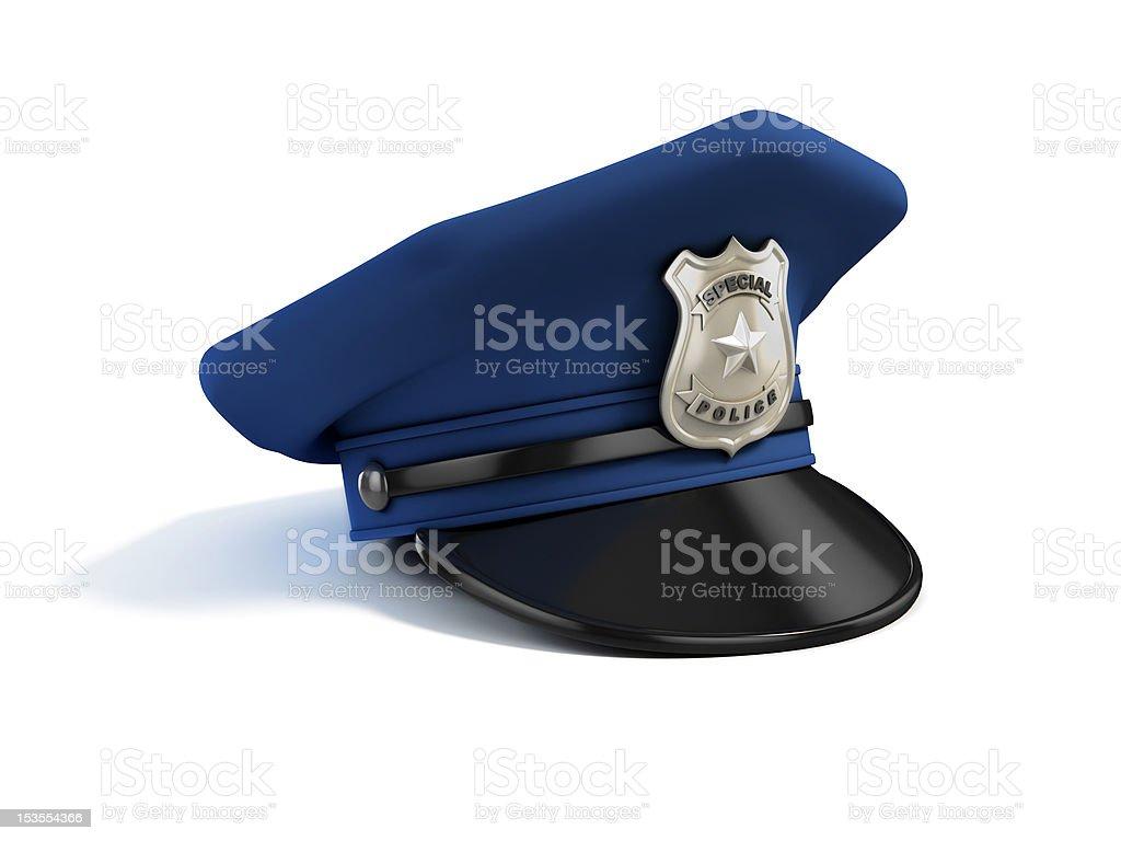 policeman hat stock photo