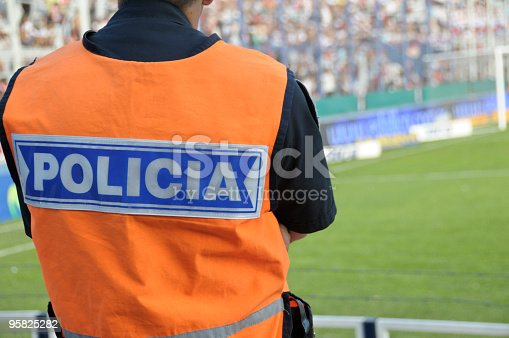 istock Policeman in a Soccer Stadium 95825282