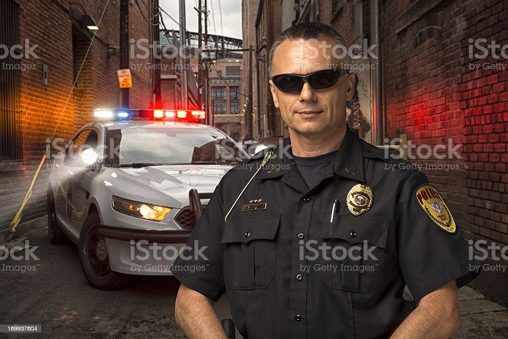 Policeman on Patrol stock photo